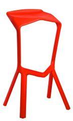 Mørtens Furniture Barová stolička Mand, červená