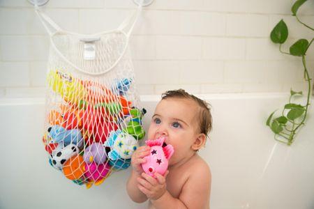 Simply Good Organizér na hračky do vany, Bílá