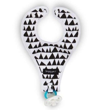 Simply Good GEO LOVE nyálkendő cumiakasztóval, fekete-fehér