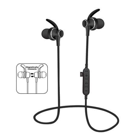 Platinet ušesne Bluetooth športne slušalke + mikrofon + microSD, črne