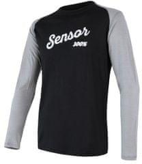 Sensor męska koszulka z długim rękawem Merino Active Pt Logo