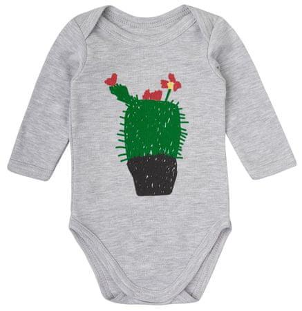 Garnamama body dziecięce z kaktusem 56 szare