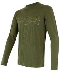 Sensor męska koszulka z długim rękawem Merino Active Pt Track