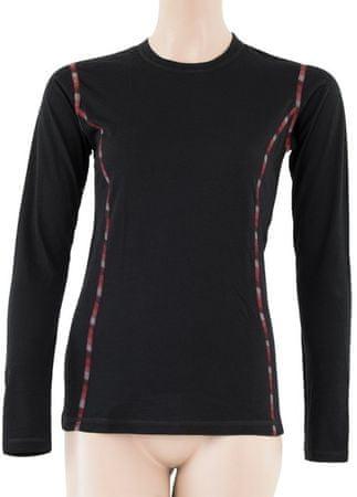 Sensor ženska majica z dolgimi rokavi Merino Air, S, črna