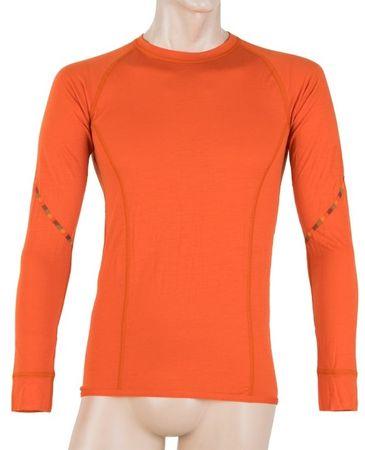Sensor Merino Air hosszú ujjú férfi póló sötét narancssárga XL