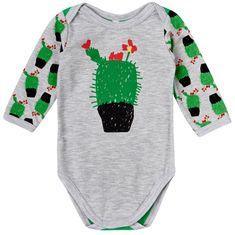 Garnamama body dziecięce z kwitnącym kaktusem