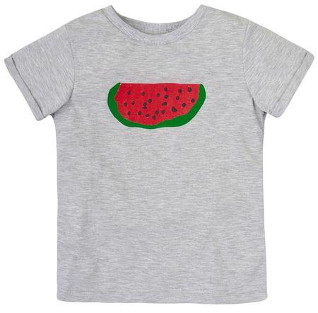 Garnamama Dětské tričko s melounem 80 sivá