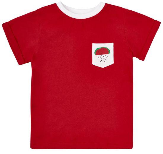 Garnamama Dětské tričko bílá kapsa s melounem 86 červená