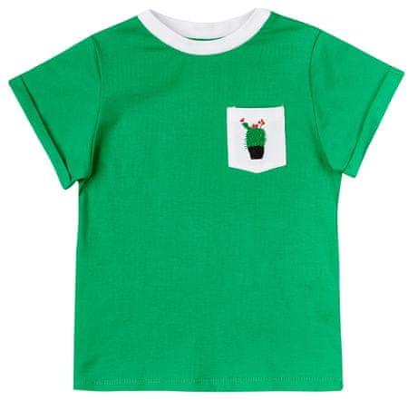 Garnamama Dětské tričko kapsička s kaktusem 74 zelená