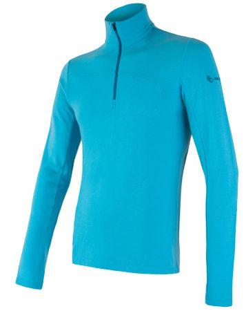 Sensor Merino Extreme hosszú ujjú férfi póló cipzárral kék M