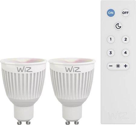 WiZ LED Žiarovka colors GU10 - 360 lm 2 ks + diaľkové ovládanie