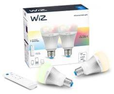WiZ LED Žiarovka colors A E27 - 806 lm 2 ks + diaľkové obládanie