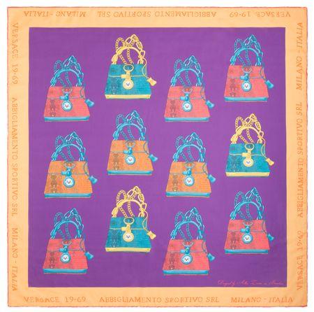 VERSACE 19.69 dámský fialový šátek It Bag