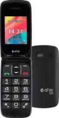 eStar mobilni telefon S20, črn