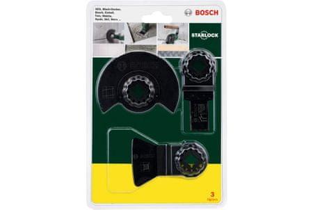 """Bosch 3 - delni začetni komplet Starlock """"Ploščice"""" za večnamenska orodja (2607017324)"""