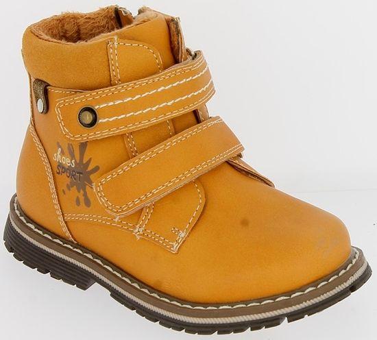 V+J chlapecké zimní boty 20 okrová