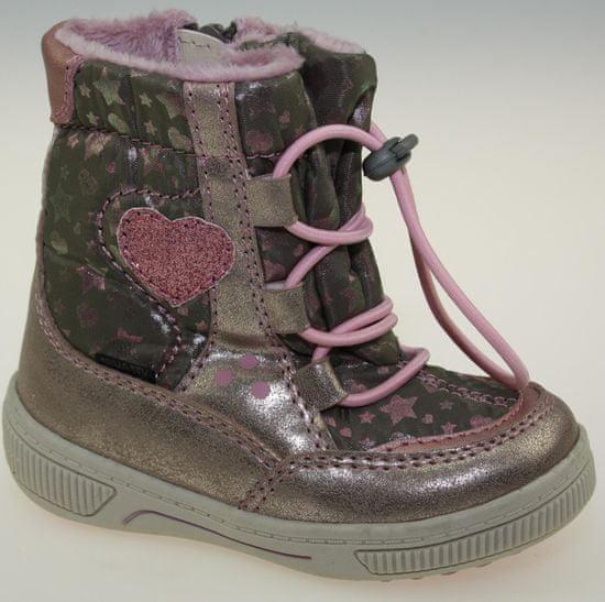 V+J dívčí zimní boty 21 růžová
