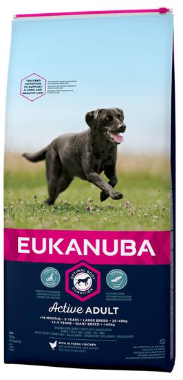Eukanuba Adult Large Breed 15 kg + házedlo velké zdarma