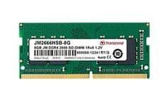 Transcend memorija (RAM) JetRam 8 GB, DDR4, PC2666, CL19, 1,2 V, SO-DIMM