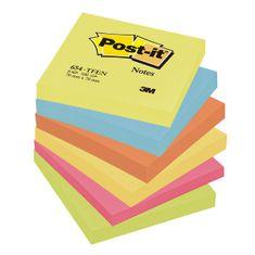 Post-It Blok samolepicí 76 x 76 /6 ks energické barvy