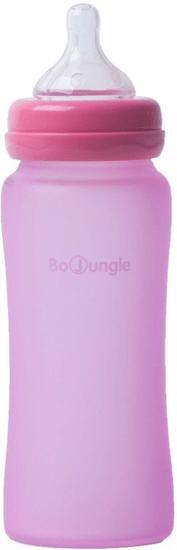 Bo Jungle Skleněná láhev B-Thermo 300ml, Pink