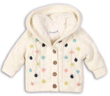 Minoti Sweter dziewczęcy w kolorowe kropki II. 80 - 86 beżowy