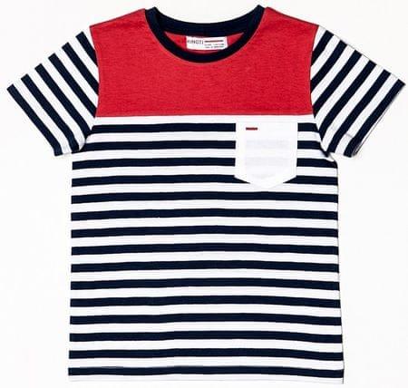 Minoti fantovska majica s črtami, 68 - 80, modra
