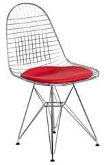 Mørtens Furniture Jedálenská stolička Jette 2, chróm/červená