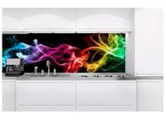 Dimex Fototapeta do kuchyne KI-180-081 Farebný dym v čiernom 60 x 180 cm