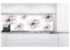Dimex Fototapeta do kuchyne KI-180-098 Kreslené kvety v bielom 60 x 180 cm