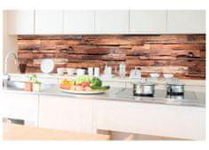 Dimex Fototapeta do kuchyne KI-350-063 Drevený obklad 60 x 350 cm
