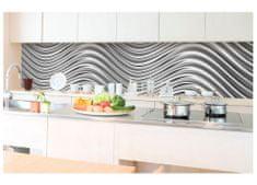 Dimex Fototapeta do kuchyne KI-350-103 Strieborné vlny 60 x 350 cm