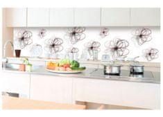 Dimex Fototapeta do kuchyne KI-350-098 Kreslené kvety v bielom 60 x 350 cm