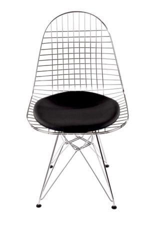 Mørtens Furniture Jídelní židle Jette 2, chrom/černá