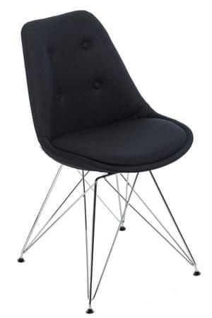 Mørtens Furniture Jídelní židle Norby čalouněná, černá