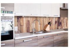Dimex Fototapeta do kuchyne KI-260-086 Drevený obklad 60 x 260 cm