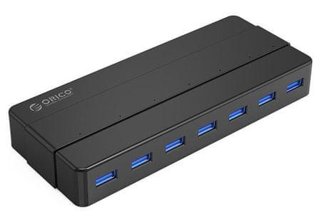 Orico USB razdelilnik H7928-U3, USB 3.0, 7 vhodov, črn
