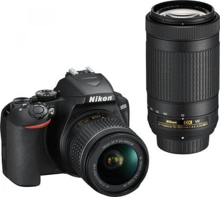 Nikon DSLR fotoaparat D3500 + AF-P 18-55VR + AF-P 70-300VR