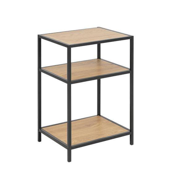 Design Scandinavia Noční / odkládací stolek Seashell, 63 cm, dub