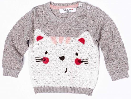 Minoti Dívčí svetr s kočičkou 56 - 62 šedá