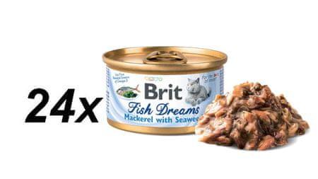 Brit Fish Dreams Mackerel & Seaweed 24x80g