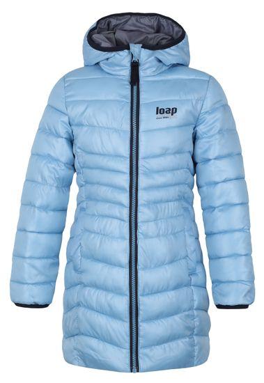 Loap Dívčí zimní kabát Ikima 112/116 světle modrá