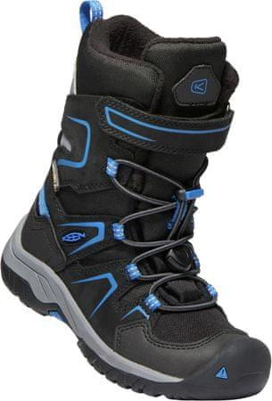 KEEN otroški zimski čevlji Levo Winter WP C black/baleine blue, črno modri, US 8, 24