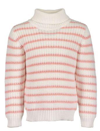 Blue Seven dievčenský sveter 122 biela/ružová