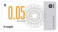 Tangem kripto bankovec, NFC, 0.05 BTC, prazen