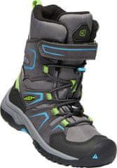 KEEN dječje zimske cipele Levo Winter WP C magnet/blue jewel, sivo-plave