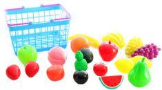 Lamps košarica s sočnim sadjem in zelenjavo
