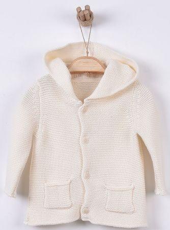 Kitikate Dětský pletený svetřík s kapucí 56 béžová