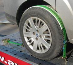 P TEAM d.o.o. povezovalni trak za avtomobile s tremi kavlji, 2 m, 35 mm, 2000 daN