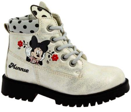 99a326b667992 Disney by Arnetta dievčenské členkové topánky Minnie 25 strieborná ...